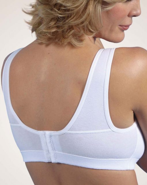 Nightingale Medical Supplies Design Veronique Yesmina-Z Front Zippered Cotton Medical Sports Bra