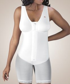 Nightingale Medical Supplies Design Veronique Zippered Mid-Thigh Molded Buttocks High-Back Girdle with Bra
