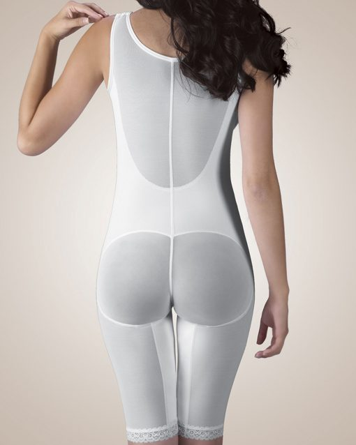 Nightingale Medical Supplies Design Veronique Zippered Above-Knee Molded Buttocks High-Back Girdle with Bra
