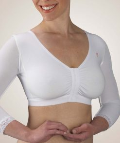 Nightingale Medical Supplies Design Veronique Compression Arm Sleeve with Adjustable Cotton Knit Bra