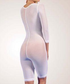 Nightingale Medical Supplies Design Veronique Zippered Above-Knee Bodysuit