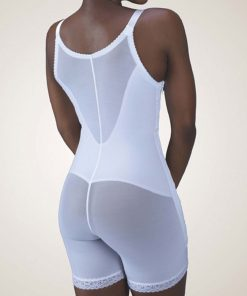 Nightingale Medical Supplies Design Veronique Zippered Rubenesque Mid-Thigh High-Back Abdominal Girdle