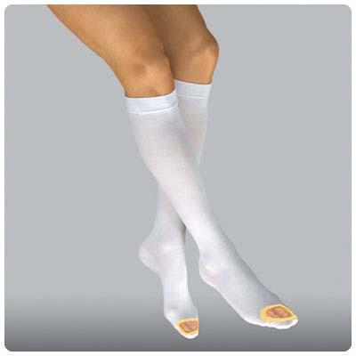 BSN Jobst AntiEmbolism knee high open toe white yellow.jpg