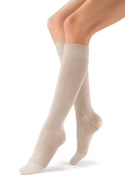 BSN Jobst SoSoft knee high brocade sand.jpg