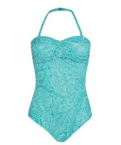 71372 California One-Piece Multiway Swimsuit - Aqua / White #71372