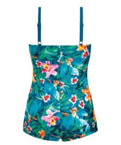 Amoena Mauritius Boyleg Swimsuit - teal / multi - SEASONAL - Select sizes/quantities available 71359